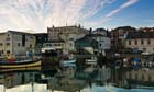 Clouds reflected in Falmouth harbour