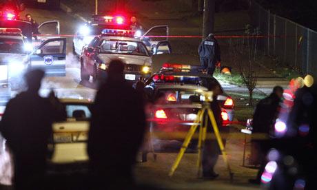 Street scene where police gunned down Maurice Clemmons.