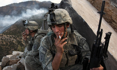 US soldiers in Afghanistan, where they will soon be joined by 30,000 additional troops