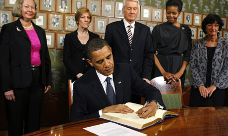 Nobel Peace Prize laureate President Barack Obama at the Nobel Peace Prize Signing.