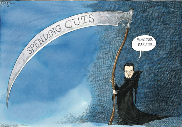 Chris Riddell comment cartoon 12.12.09