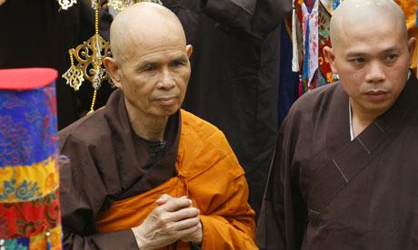 Vietnamese Buddhist leader, Thich Nhat Hanh. Credit: AP