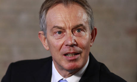 The former British prime minister Tony Blair