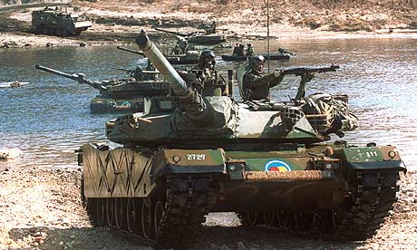 South korean tanks taking 001
