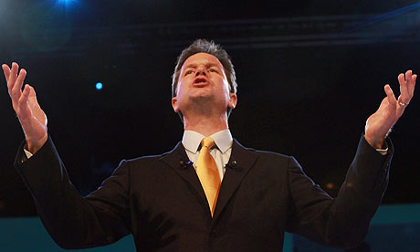 Nick Clegg at the Liberal Democrats autumn conference
