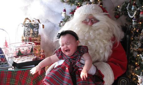 A scary Santa moment.