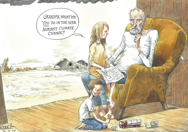 Chris Riddell comment cartoon 20.12.09