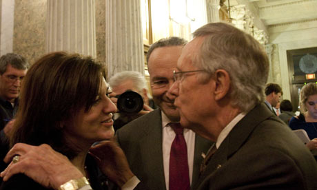 Victoria Reggie Kennedy, widow of the late Senator Ted Kennedy and Senate majority leader Harry Reid