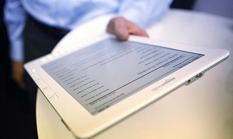 A Kindle DX ebook reader