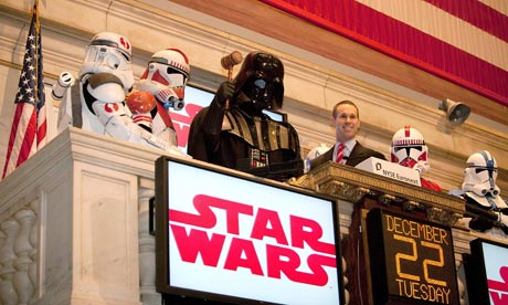 Darth Vader rings the opening bell at the New York Stock Exchange