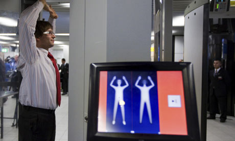 Body Scanner already in use at Schiphol airport, Netherlands (Photo: Guardian)