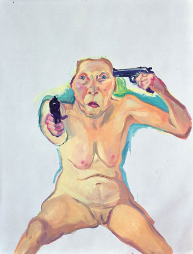 Maria Lassnig, a personal favorite. You or Me. 2008.