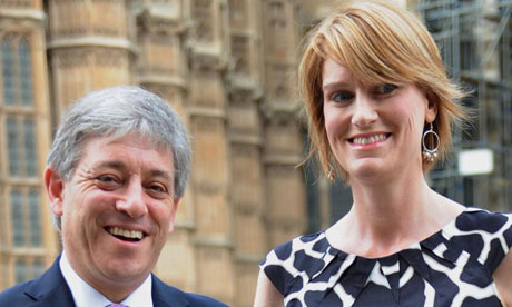 John Bercow with hise wife, Sally, who has also confessed to past indiscretions