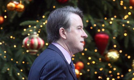 Lord Mandelson on 8 December 2009.