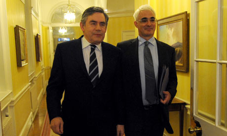 Gordon Brown and Alistair Darling on 9 December 2009.