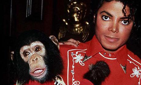 Michael Jackson and Bubbles the chimp