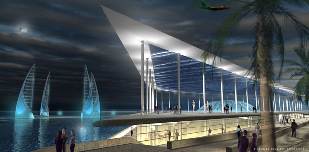 Underwater museum: Artist's impression of the proposed underwater museum in Alexandria, Egypt