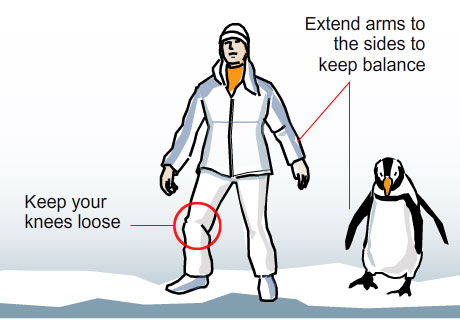 Boston Globe's tips for navigating safely on slippery ice