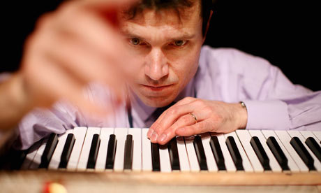 Master piano tuner Ulrich Gerhartz at work
