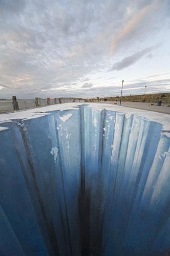 3D street art The Crevasse