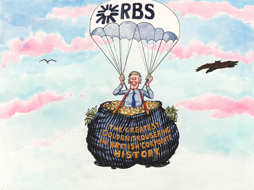 RBS pension scandal,cartoon by Steve Bell