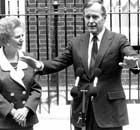 Prime Minister Margaret Thatcher with President George HW Bush on a visit to London in 1989.