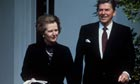 Prime Minister Margaret Thatcher and President Ronald Reagan in 1981.