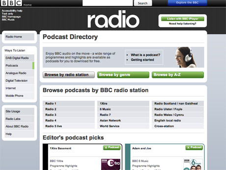 Cross has worked on the BBC's podcast directory.