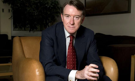 Peter Mandelson photographed in his London office