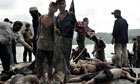 Rohingya refugees lands on the island of Sabang after being rescued by Indonesian fishermen