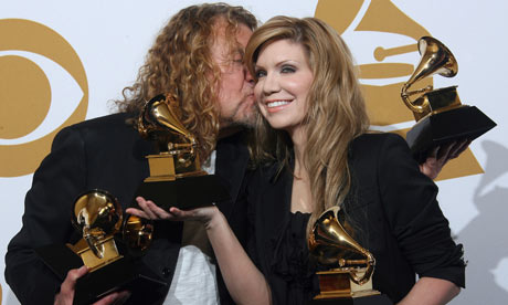 Robert Plant and Alison Krauss at the Grammy Awards