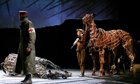 Rehearsals for the production of War Horse at the National Theatre, London