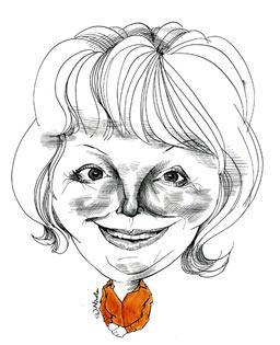 Hazel Blears caricatured by Nicola Jennings