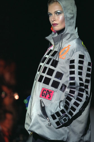 Solar clothing: Lapidus designed a solar-powered parka