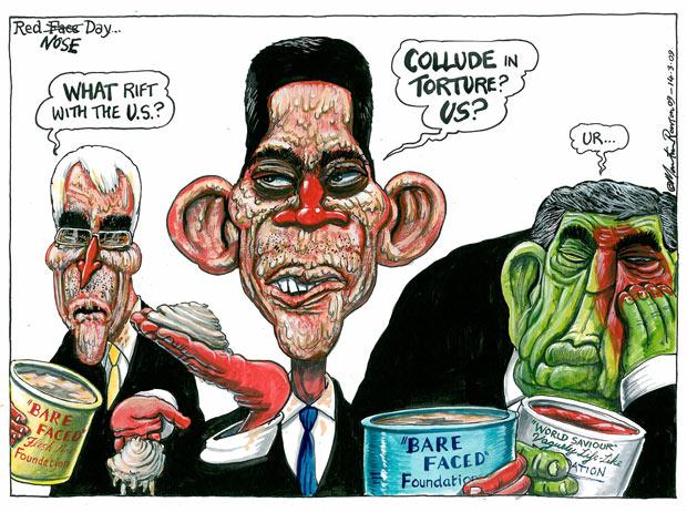 14.03.09: Martin Rowson on British-US relations