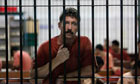 Viktor Bout in a holding cell in Bangkok last week