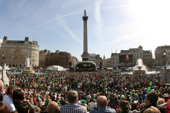 St Patrick's day parade: Saint Patrick's day parade in London