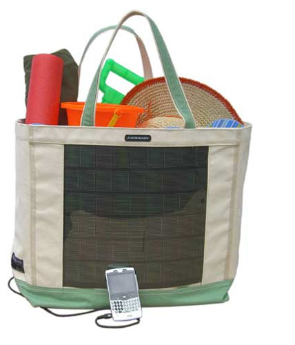 Solar clothing: the world's first heavy-duty solar beach tote by the Juice Bag Beach Tote