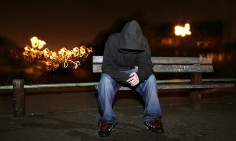 Teen Boy Wearing Hoodie