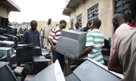 Illegal e-waste from UK dumped illegally in Nigeria
