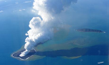 New Volcanic Island Off Tonga