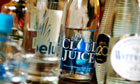 Various types of bottled water