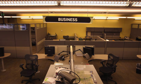 Rocky Mountain News newsroom sits empty