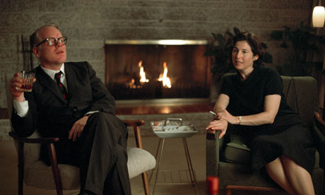 Philip Seymour Hoffman and Catherine Keener in Capote