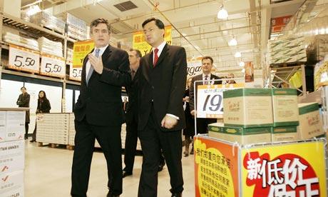 Gordon Brown at B&Q