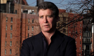 Author Jay McInerney and his fourth wife Anne Hearst March 13, 2009 at their Manhattan home