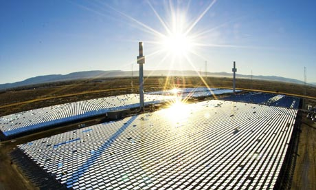solar power plant in spain. Solar power stations that