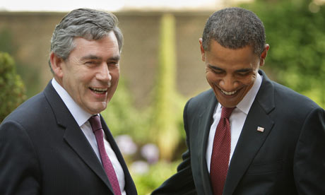 Gordon Brown and Barack Obama