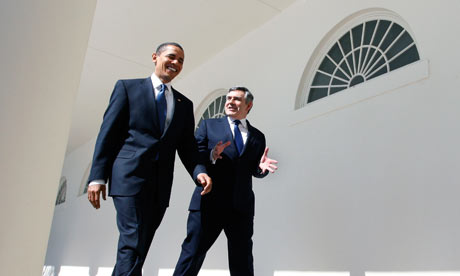 Barack Obama, Gordon Brown