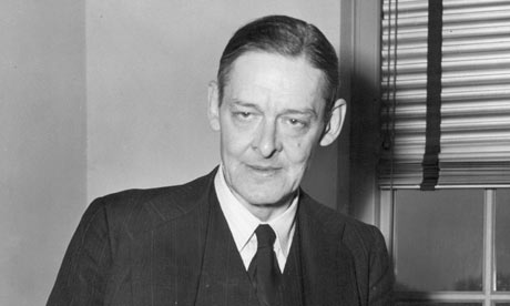 thomas st. eliot in th IAS office, Princeton, N.J.